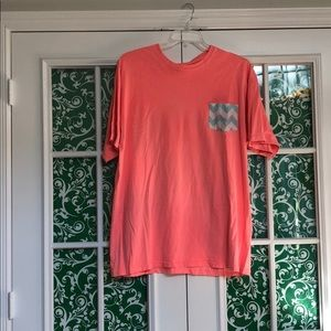 Coral T-Shirt with a Frocket